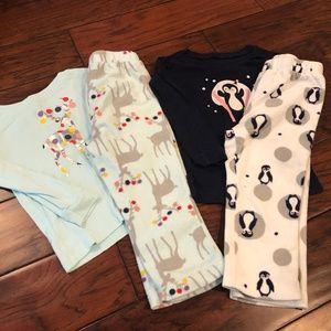 Gap Bundle x2 - Toddler Girls Pjs, sz 2T
